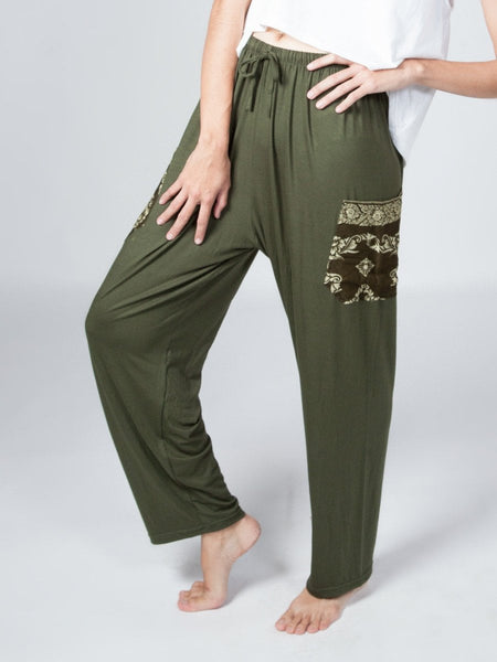 Kihari Olive Stretch Unisex Loungers