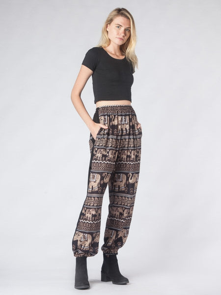 Lenana Black Slim Cut Modern Harem Pants