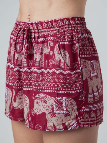 Lenana Burgundy Shorts