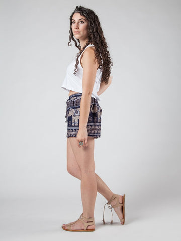 Lenana Navy Shorts