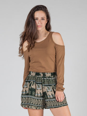 Lenana Olive Shorts
