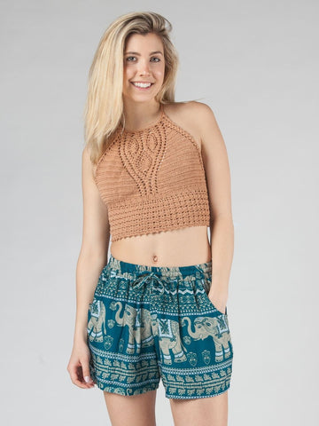 Lenana Teal Shorts