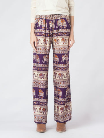 Saza Purple Boho Pants