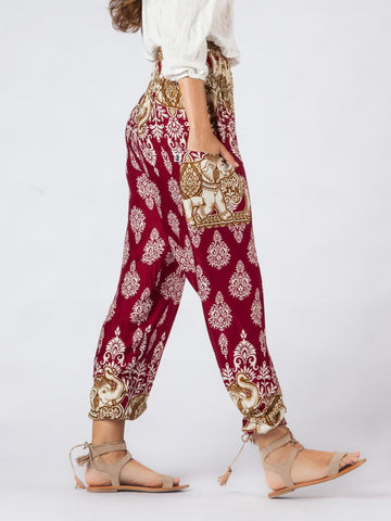 Tange Red Harem Pants