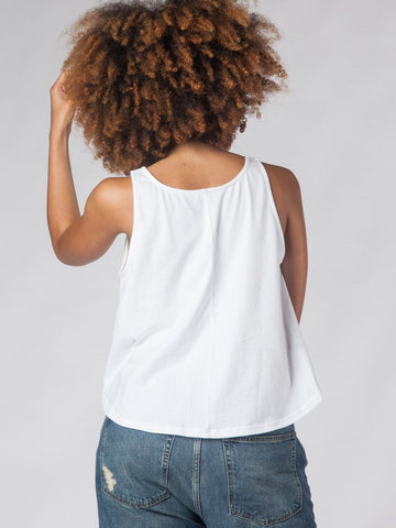 Love Ellie White High Low Crop Top
