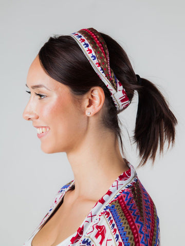 Hattie Burgundy Headband