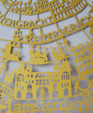 Amsterdam Paper Cut Map LIMITED EDITION