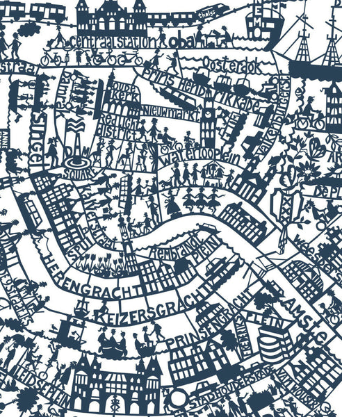 graphic about Printable Map of Amsterdam called Amsterdam hand display screen revealed map Internal Design and style Present
