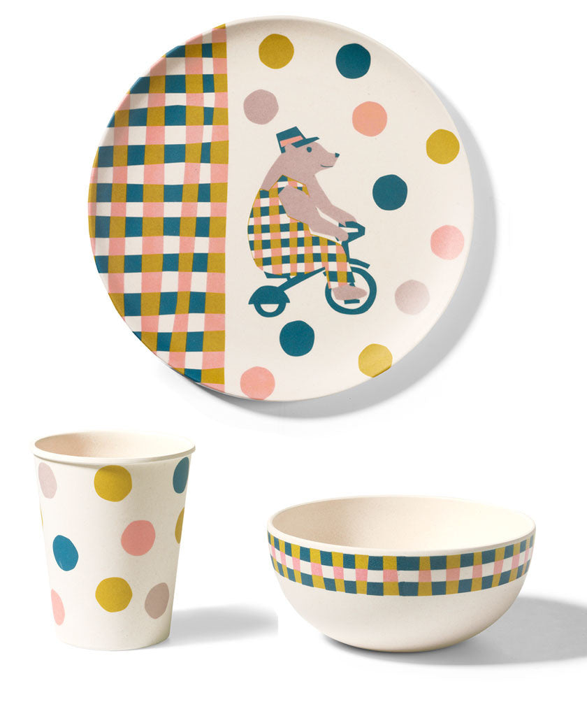 Beautiful Circus bamboo tableware for children