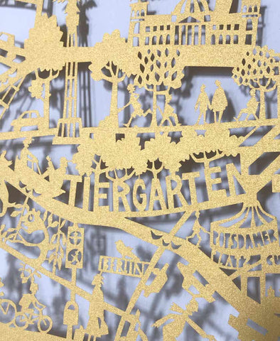 Berlin Map Paper Cut Limited Edition