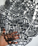 Copenhagen Paper Cut Map