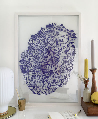Copenhagen Paper Cut Map Limited Edition