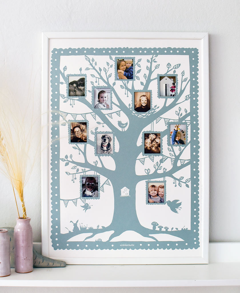Our Family Tree picture holder allows you to insert pictures of your loved ones to build your own personal Family Tree.  It