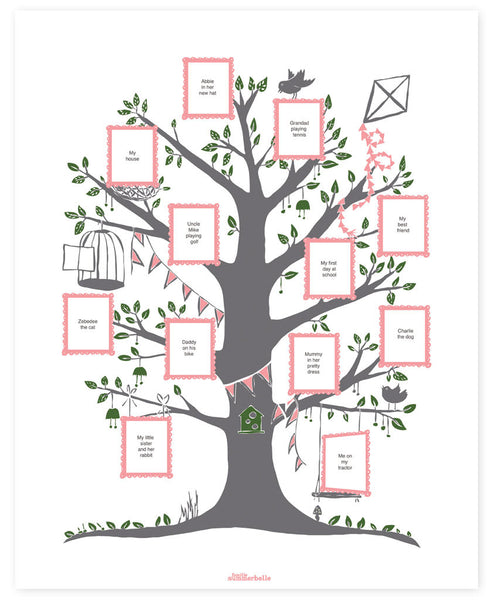 Wedding Tree Genealogy Chart By Melangeriedesign On Etsy: Create Your Family Tree