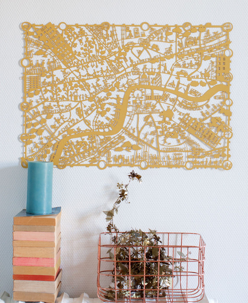 London Paper Cut Map Limited Edition
