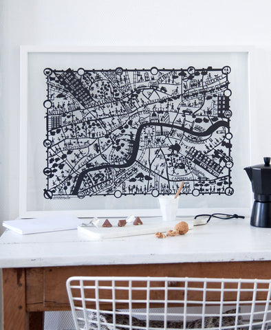 Copenhagen Map Paper Cut Limited Edition