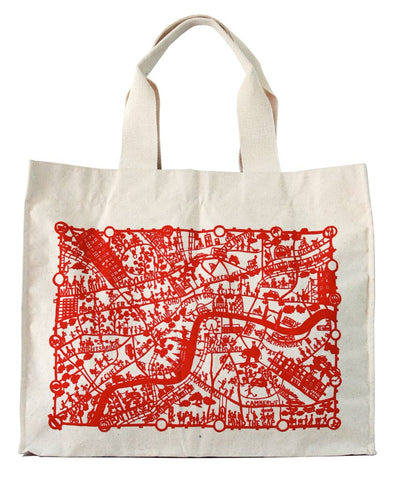 City Map Canvas Bags