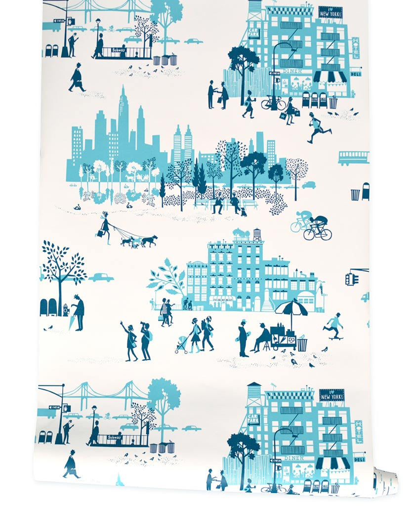 Morning In Manhattan Famille Summerbelle - Nyc map wallpaper