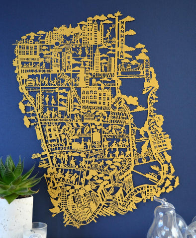 San Francisco Paper Cut map Limited Edition
