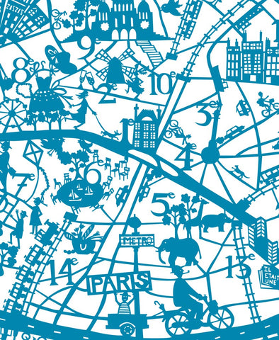 Paris Map Print