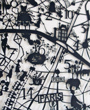 Paris Paper Cut Map