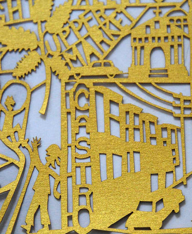 San Francisco Map Limited Edition Paper Cut
