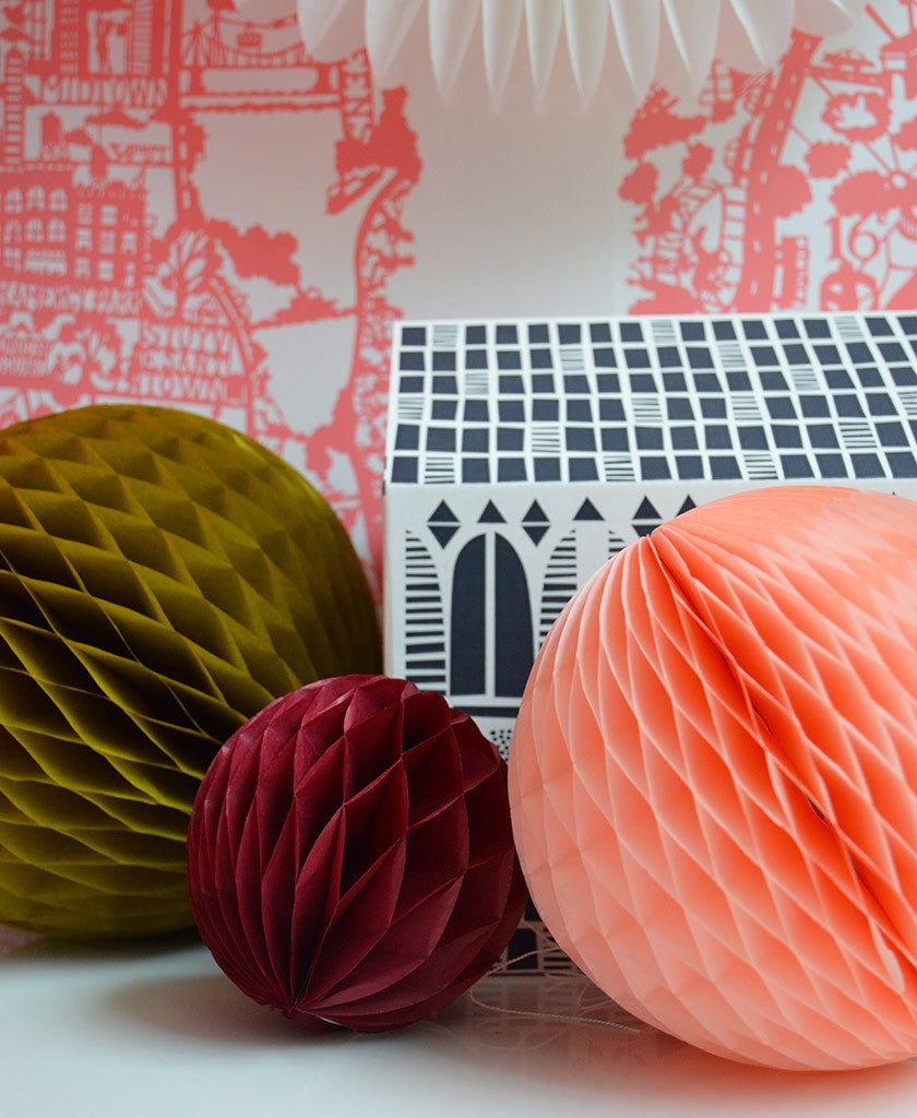 Paper Honeycomb PomPom Set