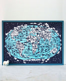 Famille Summerbelle Online Gift Store, papercuts, Paintings Germany World Map Print