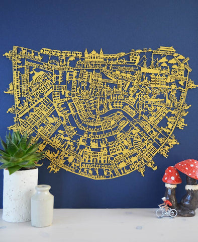 Paris Map Limited Edition Paper Cut