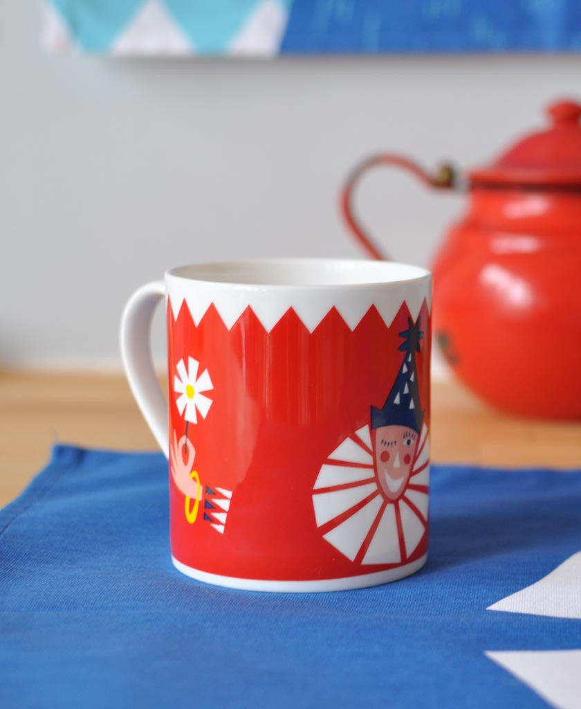 Clown Mug Red