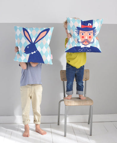 Bunny and Magician Cushion Cover