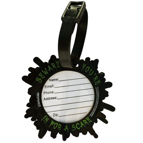 Goosebumps Green Splat G Luggage Tag