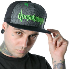 Goosebumps Spiderweb Logo Baseball Hat
