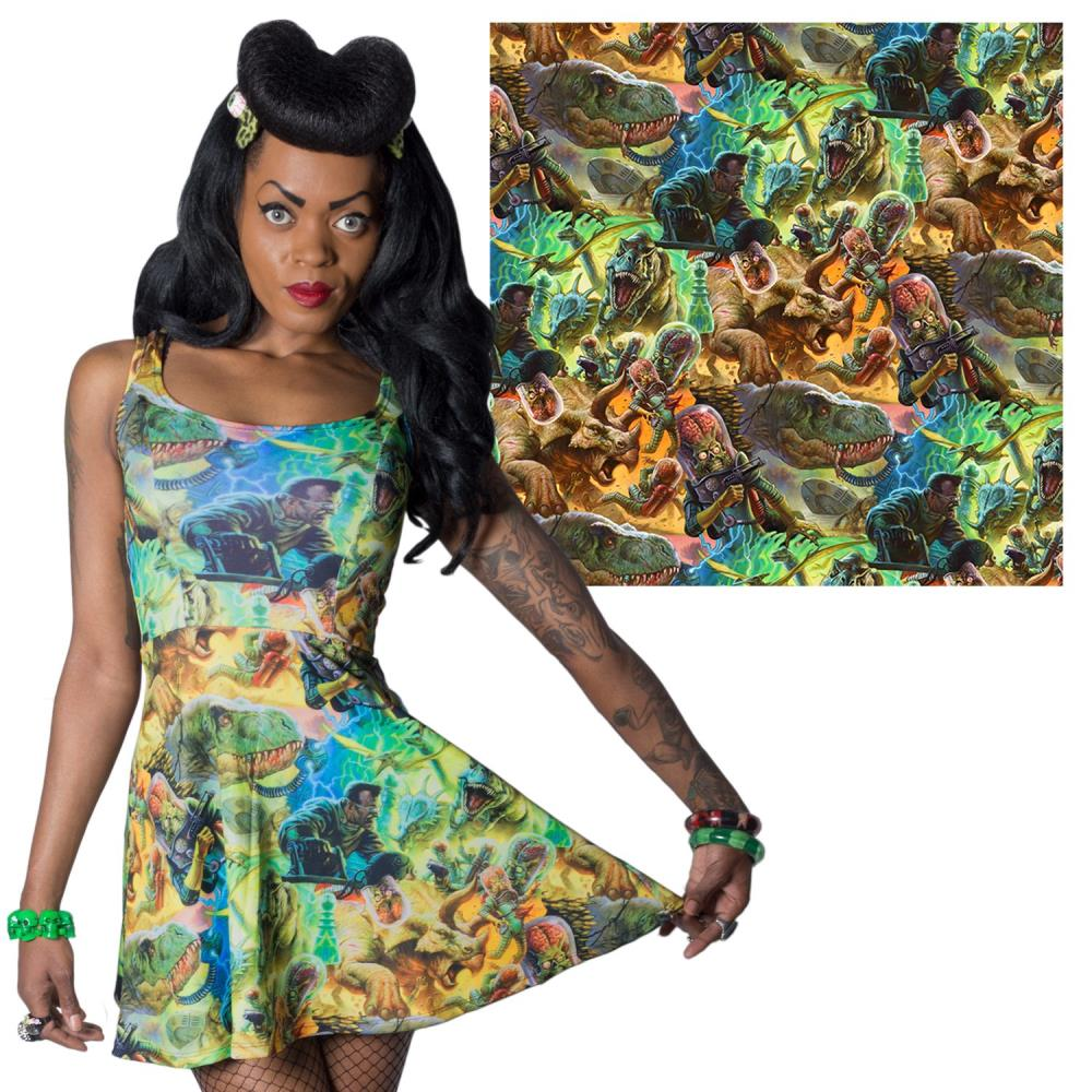 Mars Attacks Dino Repeat Dress