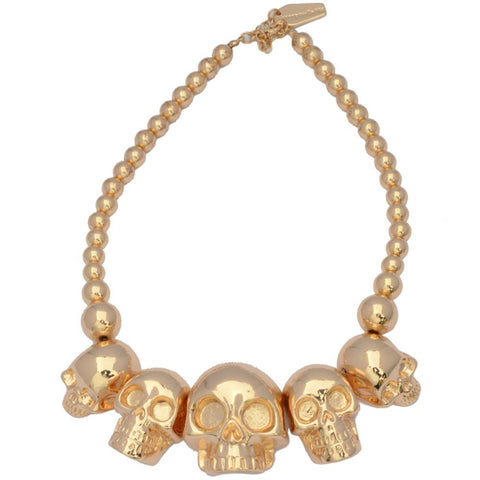 Skull Collection Necklace Metallic Gold