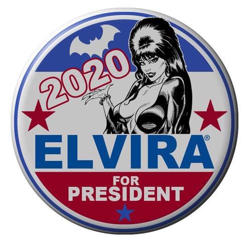 Elvira For President Button Badge