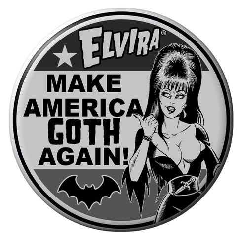 Elvira For President Make America Goth Button Badge