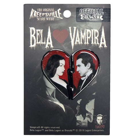 Bela Loves Vampira Broken Heart Pin Set