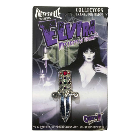 Elvira Jeweled Dagger Enamel Pin