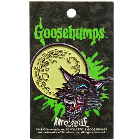 Goosebumps Moon Wolf Enamel Pin