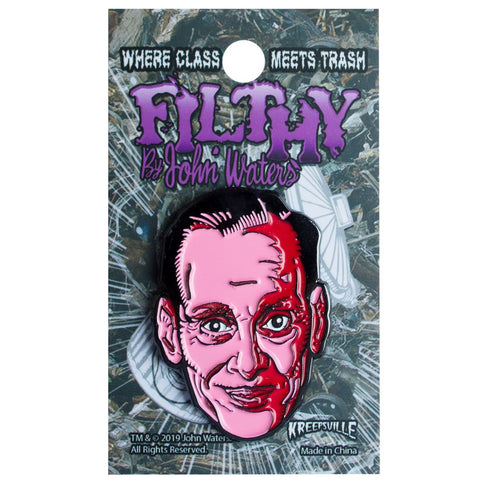 John Waters Pink Face Enamel Pin