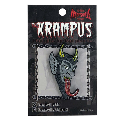 Krampus Smile Enamel Pin