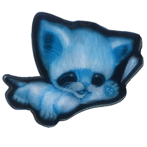 Sugarfueled Ghost Cat Crystal Enamel Pin