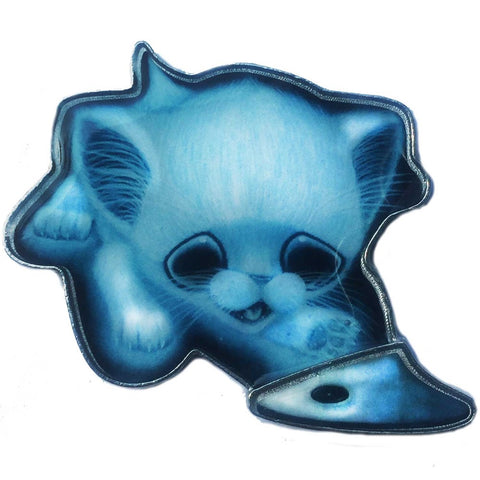 Sugarfueled Ghost Cat Planchette Enamel Pin