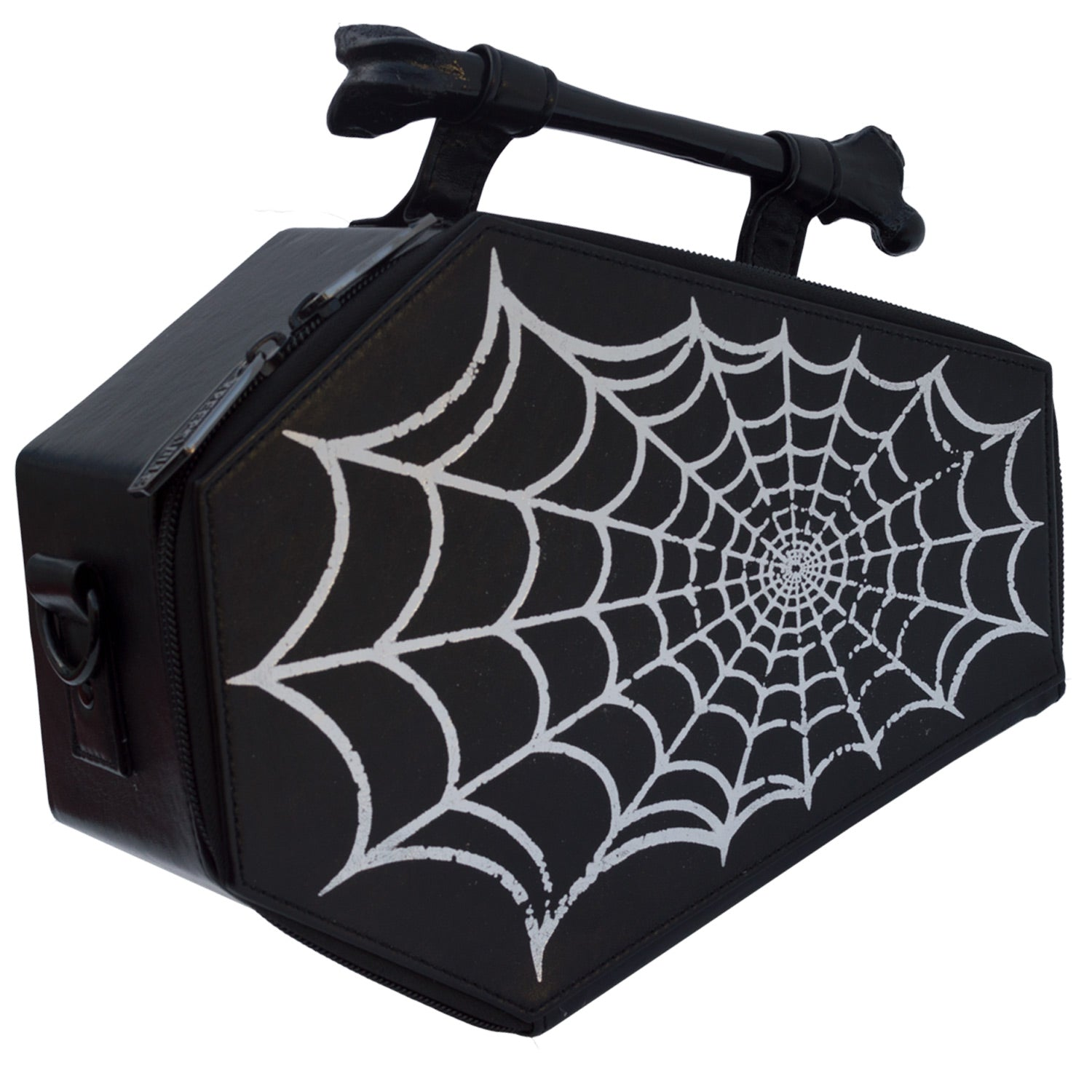 Spiderweb Foil Coffin Purse Bag
