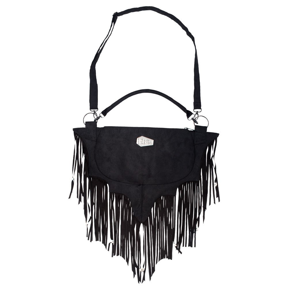 Elvira Bat Wing Fringe Shoulder Bag