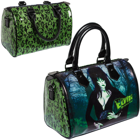 Elvira Glitter Zombie Purse Bag