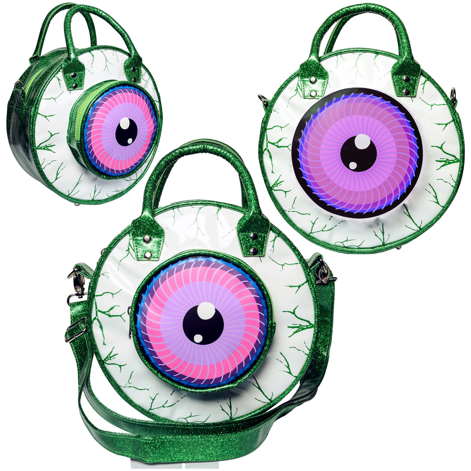 Eyeball Bag Green Glitter