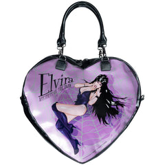 Elvira Black Heart Web Purse Bag