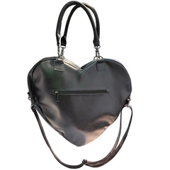 Vampira Black Heart Purse Bag